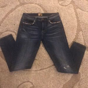 Driftwood/Free People High Rise Skinny Jeans 28/4